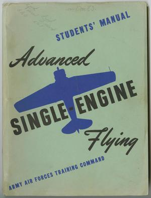 Primary view of object titled '[Students' Manual: Advanced Single-Engine Flying]'.
