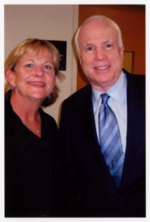 Primary view of object titled '[Woman Posing with John McCain]'.