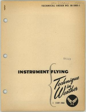 Primary view of object titled 'Instrument Flying: Technique in Weather'.