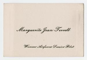 Primary view of object titled '[Name Card]'.