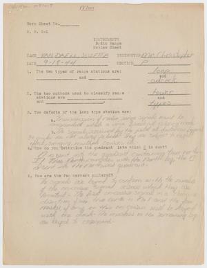Primary view of object titled '[Radio Range Review Sheet]'.