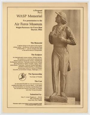 Primary view of object titled '[Proposal for a WASP Memorial]'.