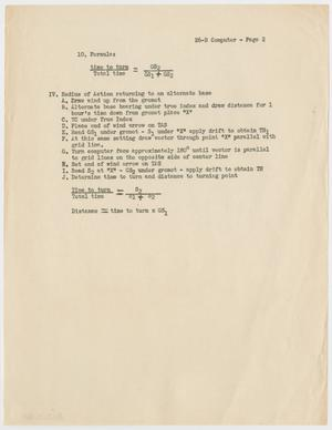 Primary view of object titled '[E6-B Computer - Page 2]'.