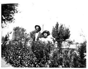 Primary view of object titled '[Photograph of Maria and Daniel Brito in Big Spring, Texas]'.