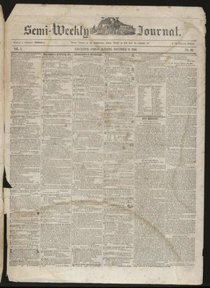 Primary view of object titled 'The Semi-Weekly Journal. (Galveston, Tex.), Vol. 1, No. 80, Ed. 1 Friday, November 8, 1850'.