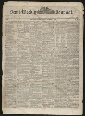 Primary view of object titled 'The Semi-Weekly Journal. (Galveston, Tex.), Vol. 1, No. 79, Ed. 1 Tuesday, November 5, 1850'.