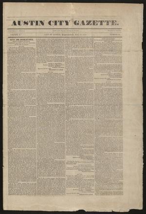 Primary view of Austin City Gazette. (Austin, Tex.), Vol. 1, No. 28, Ed. 1 Wednesday, May 20, 1840