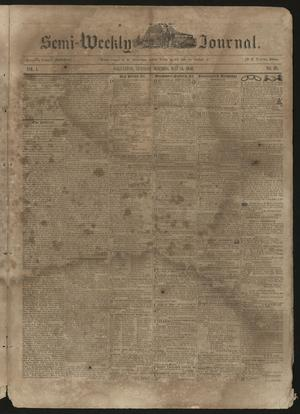 Primary view of object titled 'The Semi-Weekly Journal. (Galveston, Tex.), Vol. 1, No. 28, Ed. 1 Tuesday, May 14, 1850'.