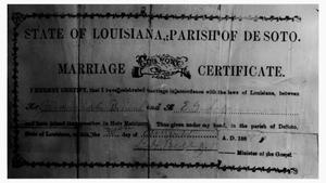 Primary view of object titled 'Jeremiah and Ella Bryant's Marriage Certificate, 1888'.