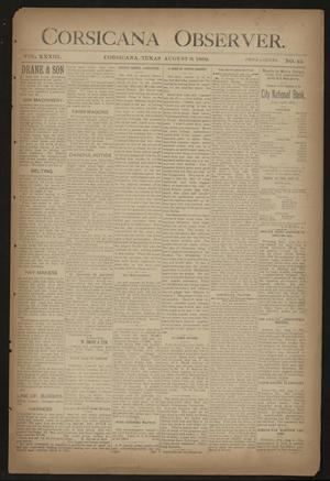 Primary view of object titled 'Corsicana Observer. (Corsicana, Tex.), Vol. 33, No. 42, Ed. 1 Friday, August 9, 1889'.