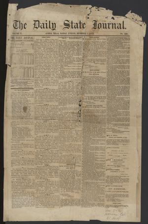 Primary view of object titled 'The Daily State Journal. (Austin, Tex.), Vol. 4, No. 226, Ed. 1 Monday, November 3, 1873'.