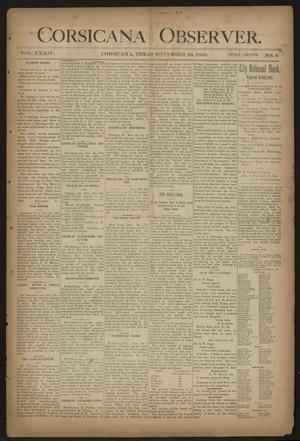 Primary view of object titled 'Corsicana Observer. (Corsicana, Tex.), Vol. 34, No. 6, Ed. 1 Friday, November 29, 1889'.