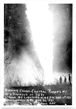 Primary view of object titled 'Fire at Rogers #1 Oil Well'.