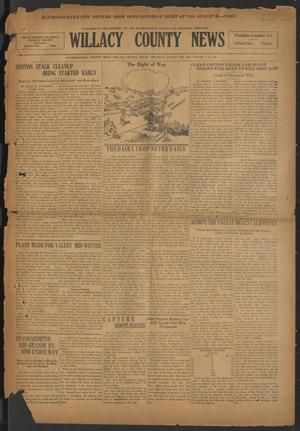 Primary view of object titled 'Willacy County News (Raymondville, Tex.), Vol. 7, No. 34, Ed. 1 Thursday, August 28, 1924'.