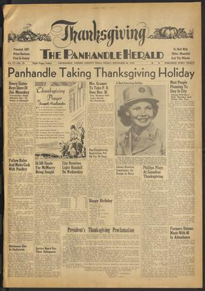 Primary view of object titled 'The Panhandle Herald (Panhandle, Tex.), Vol. 57, No. 19, Ed. 1 Friday, November 26, 1943'.