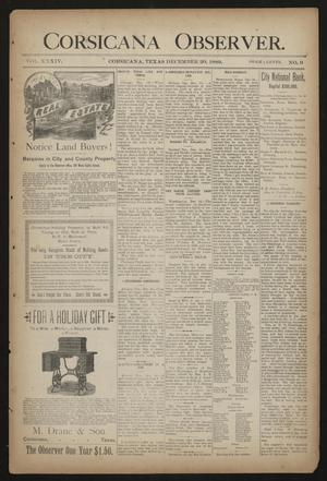 Primary view of object titled 'Corsicana Observer. (Corsicana, Tex.), Vol. 34, No. 9, Ed. 1 Friday, December 20, 1889'.