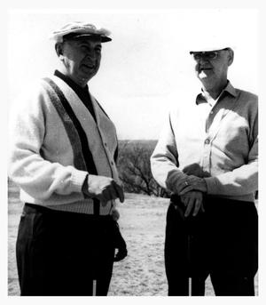 Primary view of object titled 'M.D.Bryant and Golf Partner, Bob Crabb, 1965'.