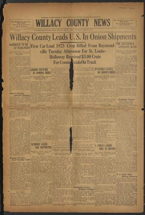 Primary view of object titled 'Willacy County News (Raymondville, Tex.), Vol. 8, No. 10, Ed. 1 Thursday, March 12, 1925'.