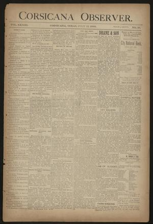 Primary view of object titled 'Corsicana Observer. (Corsicana, Tex.), Vol. 33, No. 38, Ed. 1 Friday, July 12, 1889'.