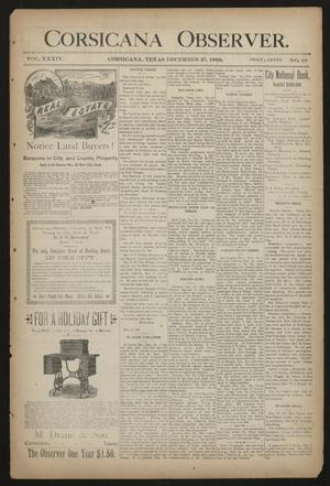 Primary view of object titled 'Corsicana Observer. (Corsicana, Tex.), Vol. 34, No. 10, Ed. 1 Friday, December 27, 1889'.