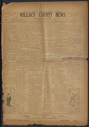 Primary view of object titled 'Willacy County News (Raymondville, Tex.), Vol. 6, No. 40, Ed. 1 Thursday, October 18, 1923'.