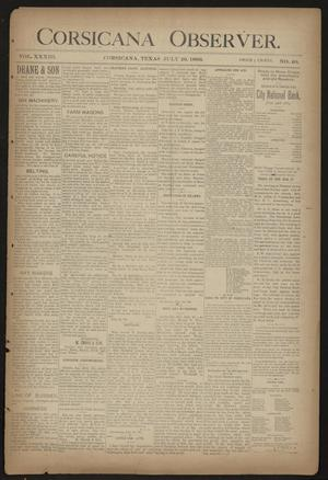 Primary view of object titled 'Corsicana Observer. (Corsicana, Tex.), Vol. 33, No. 40, Ed. 1 Friday, July 26, 1889'.