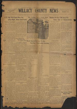 Primary view of object titled 'Willacy County News (Raymondville, Tex.), Vol. 7, No. 14, Ed. 1 Thursday, April 3, 1924'.