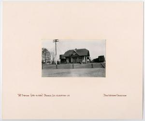 Primary view of object titled '[T&P Station in Bunkie, Louisiana]'.