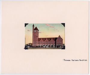 [Illustration of Fort Worth, Texas T&P Station]