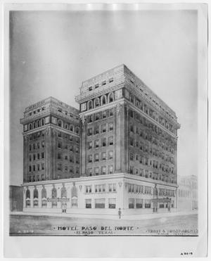 Drawing of the Hotel Paso Del Norte