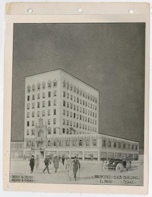 Primary view of object titled '[Proposed Elks Building]'.