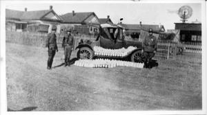 Primary view of object titled 'U.S. Border Patrol with Confiscated Liquor'.