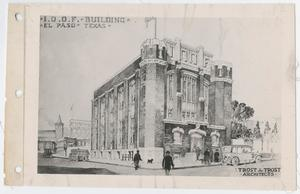Primary view of object titled '[I. O. O. F. Building Rendering]'.