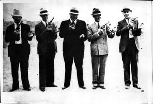 Primary view of object titled 'U.S. Border Patrolmen, Pistol Team'.