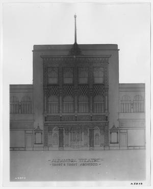 Drawing of the Alhambra Theater Front Entrance