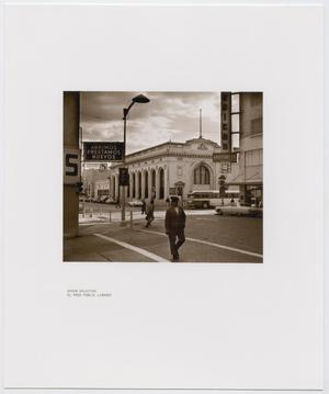 [Man Using Crosswalk in El Paso]