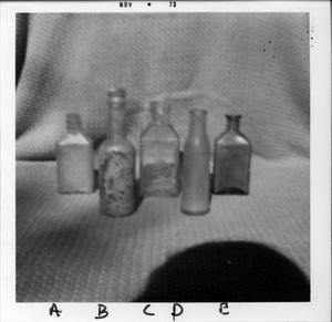 Primary view of object titled 'Glass Bottles'.