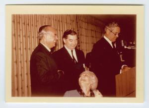 Primary view of object titled '[Photograph of John Connally and Others at Podium]'.
