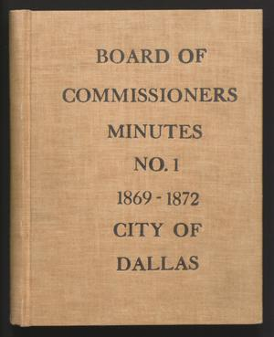 [Dallas City Council Minutes: 1869-1872]