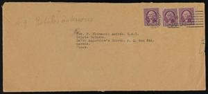 Primary view of [Envelope with Various Slips of Paper]
