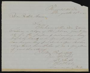Primary view of [Letter from Joe Slaughter to Bartolo Garcia, August 26, 1852]