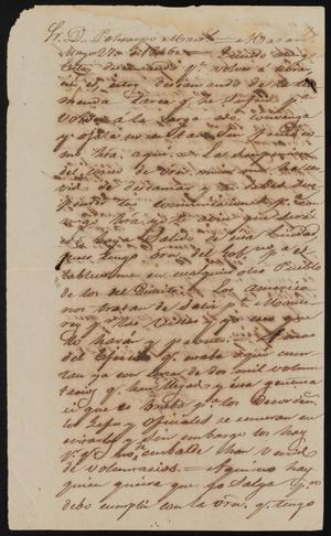 Primary view of [Copy of a Letter Sent to Policarzo Martinez]