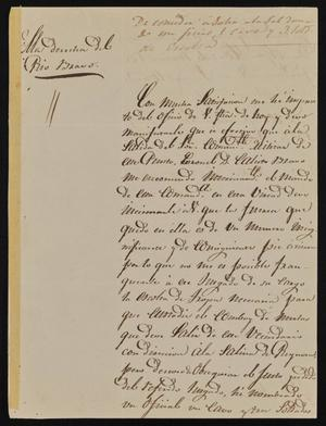 Primary view of [Letter from Pedro Rodriguez to the Laredo Alcalde, May 19, 1845]
