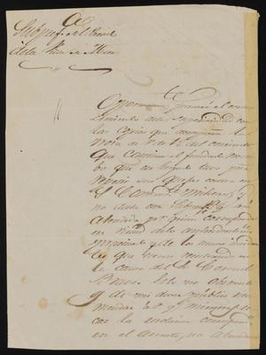 Letter from Policarzo Martinez to Alcalde Ramón, September 6, 1845