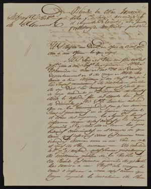 Primary view of [Letter from Policarzo Martinez to the Laredo Ayuntamiento, February 7, 1845]
