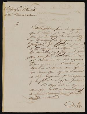 Letter from Policarzo Martinez to Alcalde Ramón, October 17, 1845