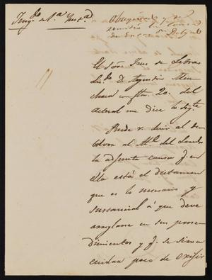 Primary view of [Letter from Rafael Martinez to the Laredo Alcalde, September 25, 1845]