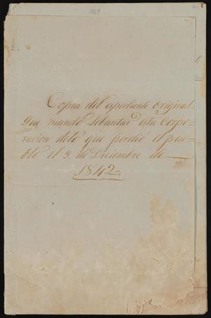 [Copy of Items Lost in Laredo on December 9, 1842]
