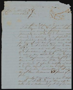 Primary view of object titled '[Letter from Refugio Villarreal to the Laredo Town Council, May 5, 1858]'.