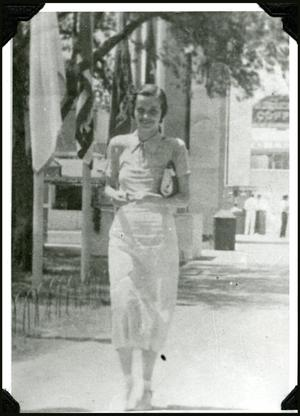 Primary view of object titled 'Nancy Keith in Dallas, 1936'.